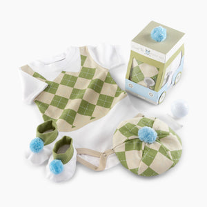 "Baby Aspen ""Sweet Tee"" 3-Piece Golf Layette Gift Set"