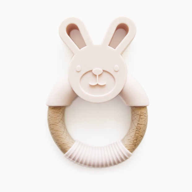 Loulou Lollipop Bunny Silicone and Wood Teething Ring