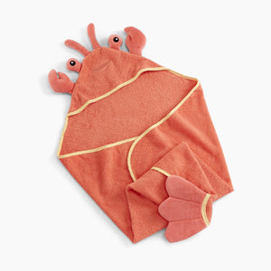 "Baby Aspen ""Lobster Laughs"" Lobster Hooded Towel"
