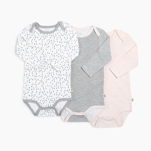 Snugabye Long Sleeve Bodysuit (3 Pack)