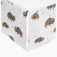 Load image into Gallery viewer, Little Unicorn Cotton Muslin Crib Skirt