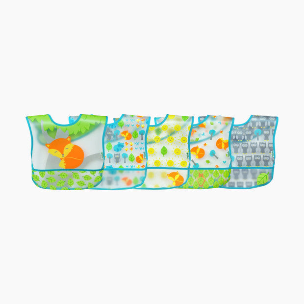 GREEN SPROUTS Wipe-Off Bibs (5 Pack)