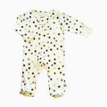 Load image into Gallery viewer, Babysoy Star Zipper Footie