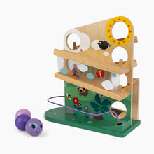 Load image into Gallery viewer, Janod Wooden Caterpillar Ball Track Toy
