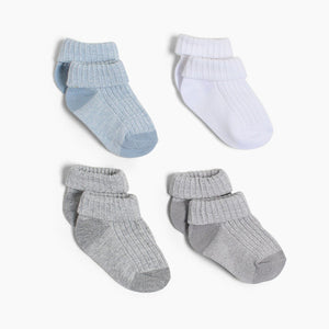 Snugabye Infant Turn Cuff Sock (4 Pack)