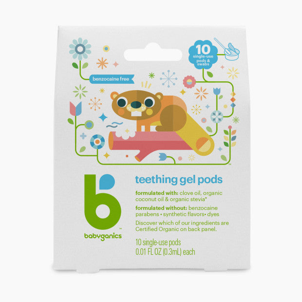 Babyganics Benzocaine-Free Gel Teething Pods (10 Pack)