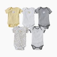 Load image into Gallery viewer, Burt's Bees Baby Organic Short Sleeve Bodysuit (5 Pack)