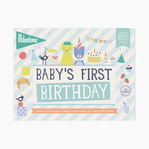 Milestone Baby's First Birthday Photo Card Booklet