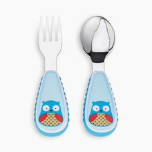 Load image into Gallery viewer, Skip Hop Zoo Little Fork and Spoon Utensil Set