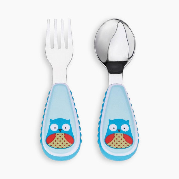 Skip Hop Zoo Little Fork and Spoon Utensil Set