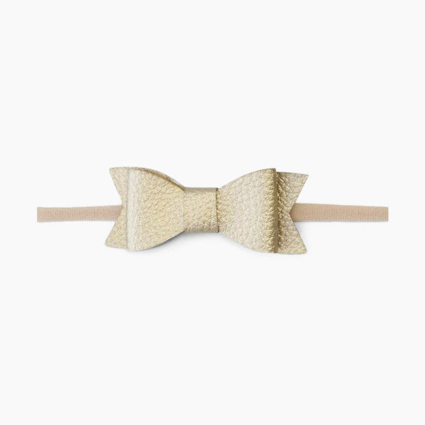 Baby Bling Leather Bow Tie Skinny Headband