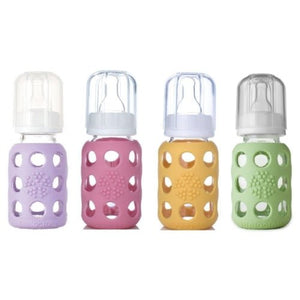 Lifefactory Lifefactory Glass Baby Bottles 4 Pack - 4 oz