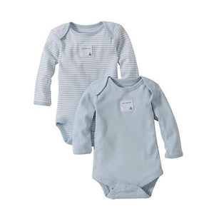 Snuggle Basics Long Sleeve 2-Pack Bodysuit - Blue