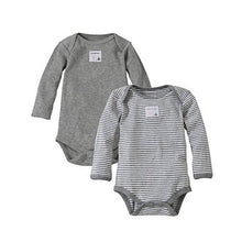 Load image into Gallery viewer, Snuggle Basics Long Sleeve 2-Pack Bodysuit - Gray