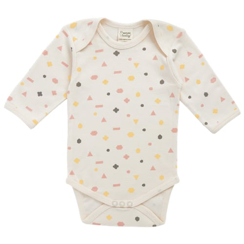 Nature's Basics Long Sleeve Bodysuit - Pink/Yellow Math
