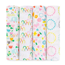 Load image into Gallery viewer, Aden + Anais Zutano Collection Swaddles (4 Pack)