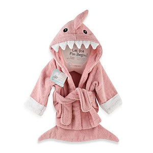 "Baby Aspen ""Let the Fin Begin"" Shark Robe - Pink"