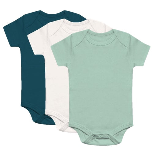 Organic Basics Short Sleeve Bodysuit 3-Pack - Boys