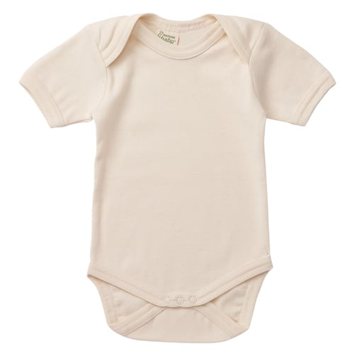 Nature's Basics Short Sleeve Bodysuit - Cream