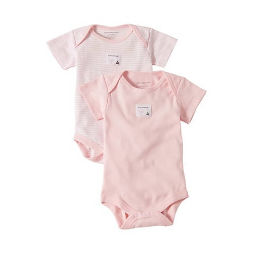 Snuggle Basics Short Sleeve 2-Pack Bodysuit - Pink