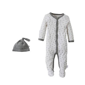 Snuggle Basics Footed Onesie - Gray