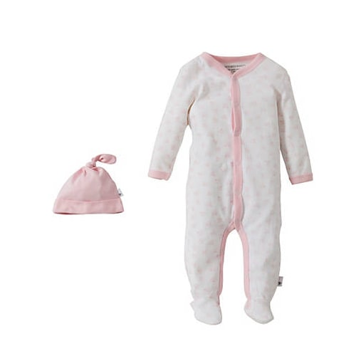 Snuggle Basics Footed Onesie - Pink