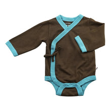 Load image into Gallery viewer, Babysoy Organic Cotton Comfy Kimono Long Sleeve Bodysuit