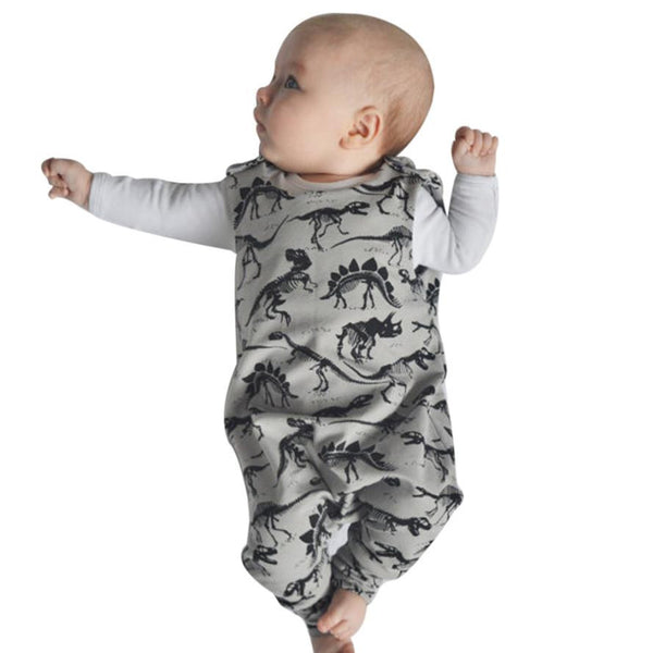 New Dinosaur pattern baby boys romper summer