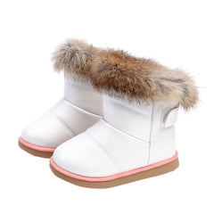 Cotton Winter Leather Boots