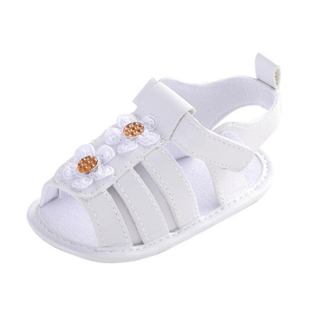 2e39a367351bf Baby shoes gilrs summer shoes Toddler Girl Crib Shoes Newborn Flower Soft  Sole Anti-slip