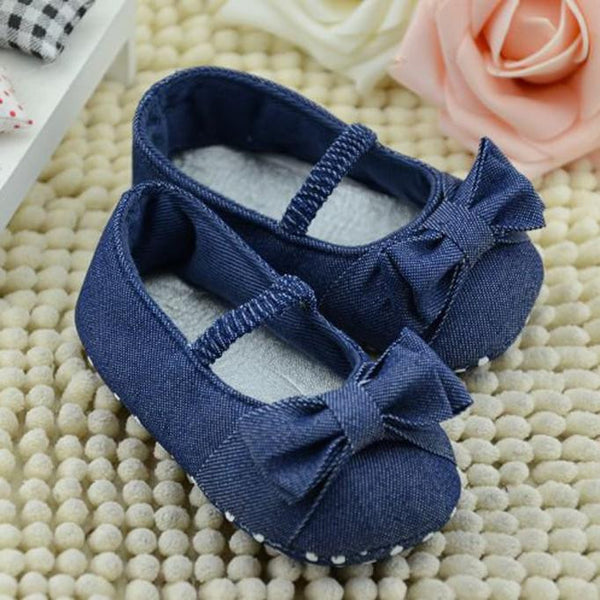 Bowknot Denim Princess Shoes