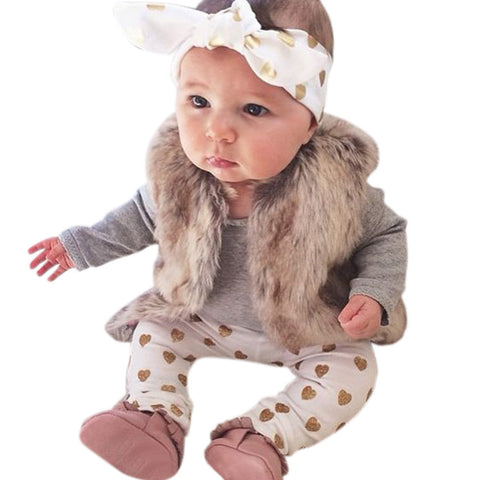 Baby Girls Bear  Outfits