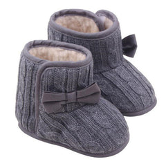 Knitted Wool Line Boots