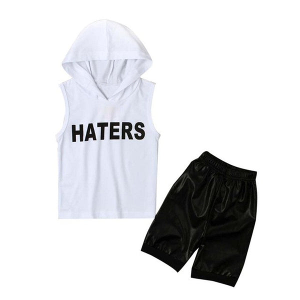 Summer Casual, Cotton Suits Baby Boys Tops Hoodie T-shirt+ Shorts Pants