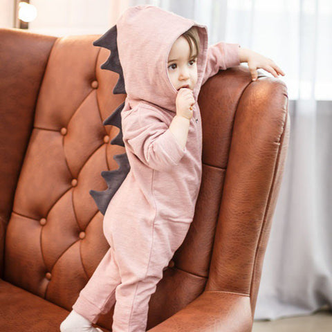 Dinosaur Design Hooded Rompers