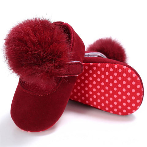 Pompom Princess Crib Shoes