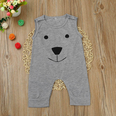 Cotton Bear Sleeveless Jumpsuit