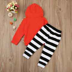 Pumpkin Hooded Outfits Set
