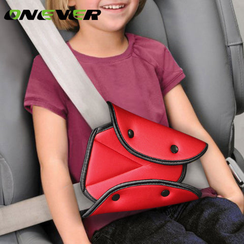 Onever Car Triangle Safety Belt Fixator Cover Pad for Baby Kid Seat Belt Adjuster Child Neck Shoulder Harness Strip Protector