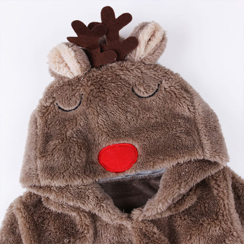 Winter Warm Deer Romper