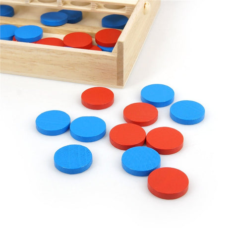 Four in A Row Wooden Game