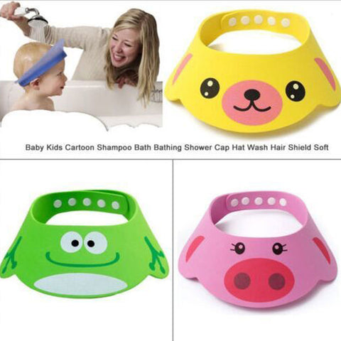 Adjustable Baby Shampoo Bath Shower Cap Hat Wash