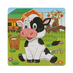 Wooden Dairy Cow Jigsaw Toy