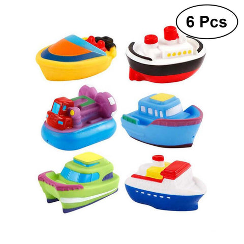 6Pcs Ship Baby Bath Toys Squeeze Sound Bath time Fun