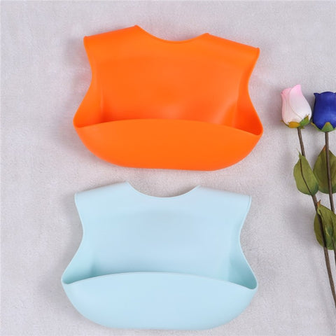 2 Pcs Silicone Baby Drool Bibs