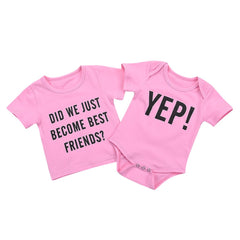 Newborn Infant Baby Letter Brother Matching Clothes