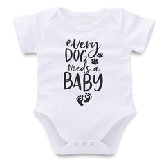 Newborn Infant Baby Girls Boys Letter Print Romper Bodysuit