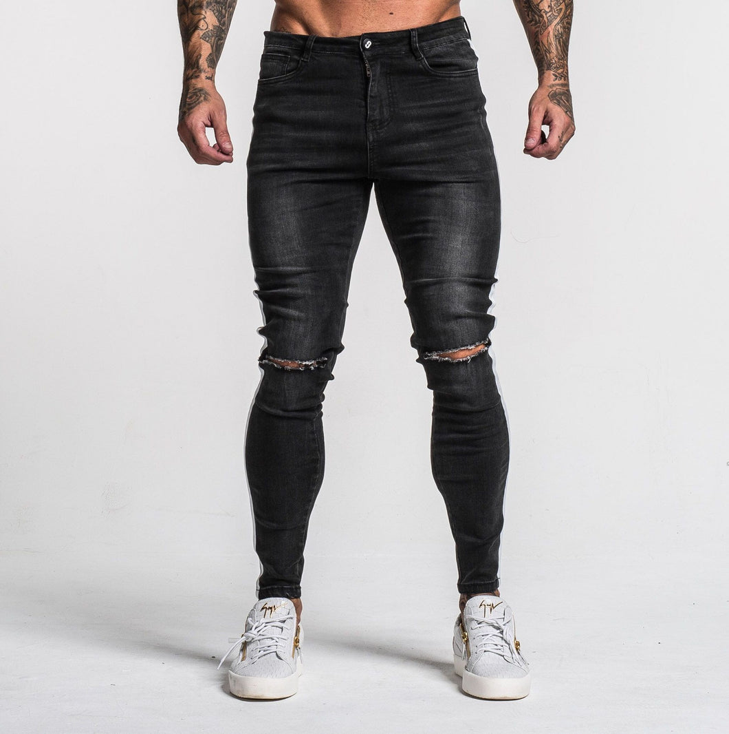 MARSHALL JEANS - RIPPED BLACK