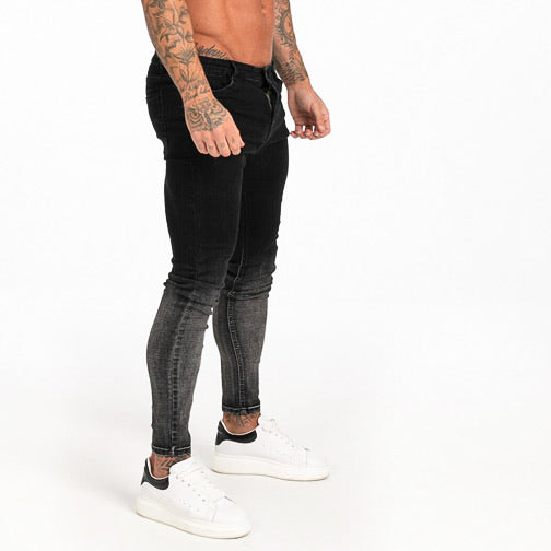 FADE JEANS - BLACK GREY FADED