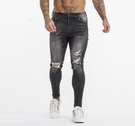 SIMON JEANS - GREY RIPPED